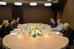 Председатель Постоянной комиссии Совета Республики по региональной политике и местному самоуправлению Герасимович С.М. встретилась с депутатом Европарламента С.Калниете