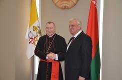 Председатель Совета Республики Мясникович М.В. встретился с Государственным секретарем Государства Ватикан П.Паролином