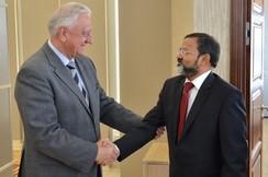 Председатель Совета Республики Мясникович М.В. встретился с Чрезвычайным и Полномочным Послом Республики Индия в Республике Беларусь Бхарти М.К.
