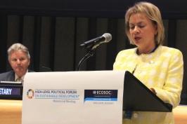 Национальный доклад Беларуси в ООН представила М.А.Щёткина на Политическом форуме высокого уровня по устойчивому развитию
