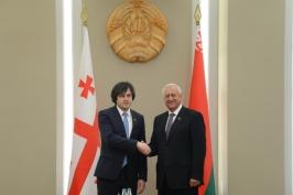 М.Мясникович: Беларусь заинтересована в развитии взаимовыгодного сотрудничества с Грузией