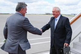 Председатель Совета Республики Мясникович М.В. прибыл в Москву